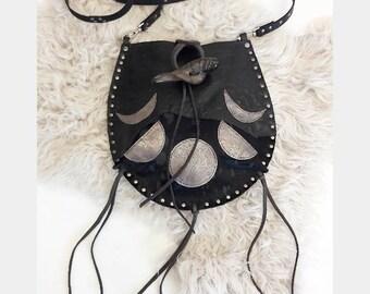 Black Patch Moonphase Bag
