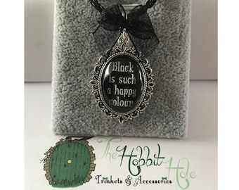 Handmade Addams Family Inspired Cameo Necklace