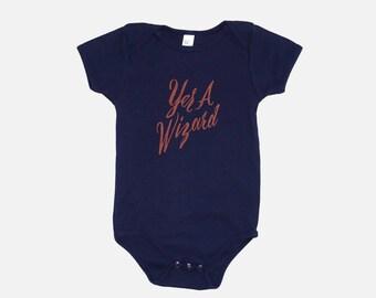 Yer A Wizard | Navy Blue Baby Onesie