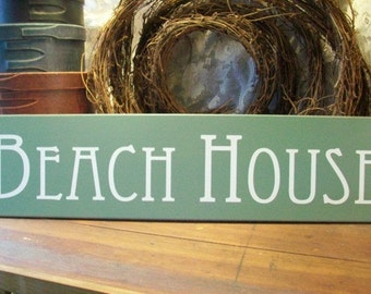 Beach House Wood Sign Summer Wall Decor Shabby Coastal Decor Beach Sign Seaside