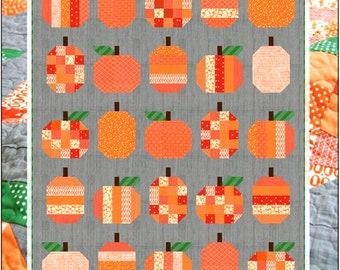 PUMPKINS Quilt Pattern     Fat Quarter Friendly   Adventuresome Beginner + Pattern    By: Cluck Cluck Sew  #167