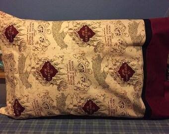 Harry Potter Marauders Map Pillowcase
