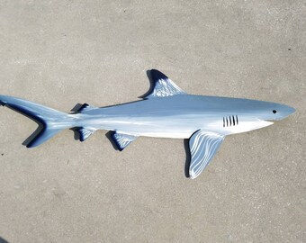 Black Tip Shark Art, Metal Wall Art, Metal Fish Art, Metal Ocean Art, Fishing Gift, Tropical Decor, Tropical Fish Art, Handmade Fish Art