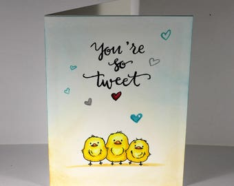 You're So Tweet - Bird Valentine's Day Card