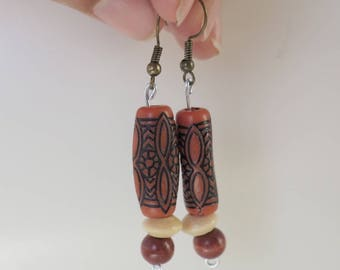 Handmade Earth-tone Earrings