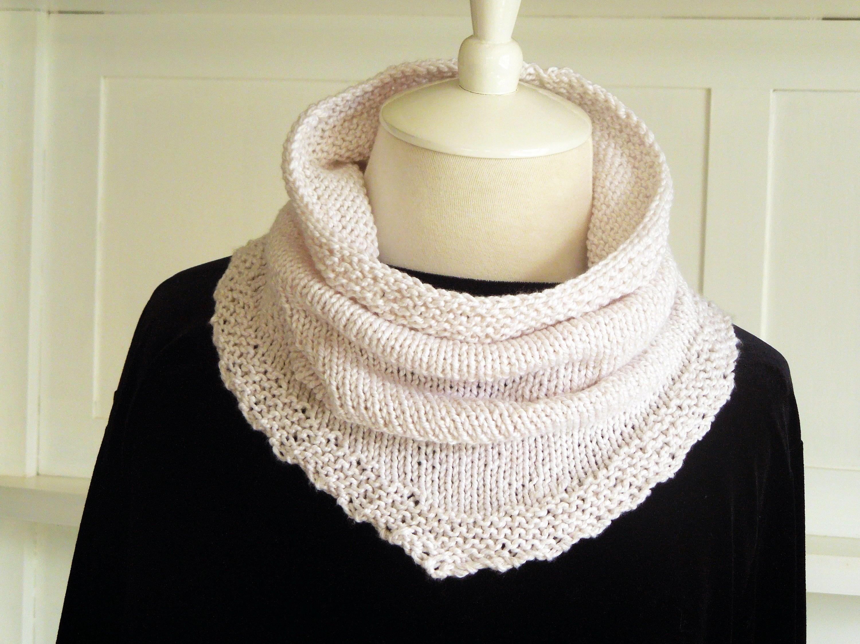 Knitting PATTERN - Kerchief Scarf, Cowl Pattern, Knit Kerchief ...