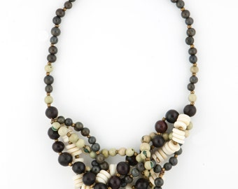 Tagua Mixed Seed Statement Necklace / Seed Jewelry / Tagua Jewelry / Acai Jewelry / Acai Necklace / Statement Necklace