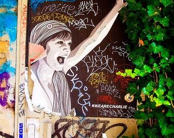 Colorful Paris Graffiti and Poster Art, Paris Street Art, Activism, Photography