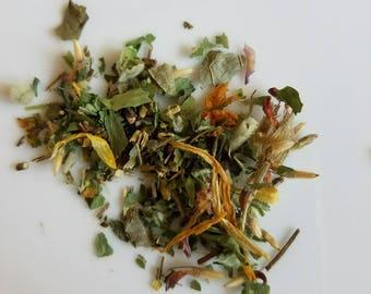 Tinkerbell - Herbal Tea, Relaxing Tea, Loose Leaf, Disney, Girl Power, Hops, Skullcap, Red Clover Blossom, Certified Organic, Caffeine Free