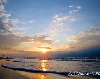 Sunrise at the Beach - Galveston TX - 16x20
