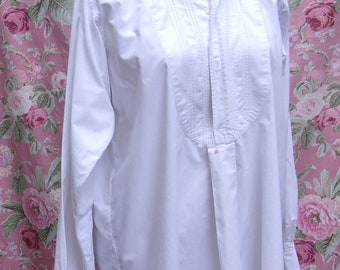 Vintage men's shirt, pleated bib