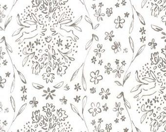 Gray Bunny Fabric | Michael Miller Sunborn Cloud