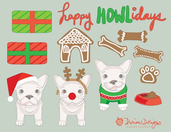 weihnachten franz sisch bulldog clip art kommerzielle nutzung. Black Bedroom Furniture Sets. Home Design Ideas