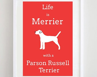 Parson Russell Terrier Print - Dog Picture - Dog Art - Dog Print - Dog Breed - Wall Art
