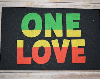 Bob Marley Inspired Recycled Rubber One Love Mat