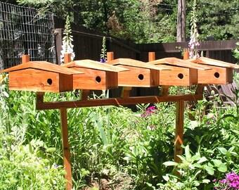 Mid Century Modern Bird House Mounting Rack, Bird Condo Pole, Birdhouse Mounting Pole, Birdhouse Collection,  Display Rack and Platform.