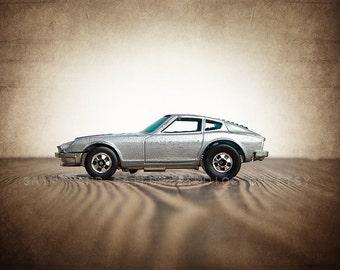 Vintage 70s Nissan 280Z, One Photo Print, Boys Room decor, Vintage Muscle Car Prints