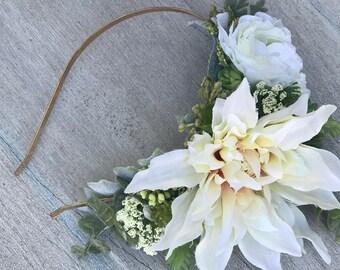 Bridal Headband, Succulent Headband, Bridal Accessories, Bridal Headpiece, Bridal Headband, Wedding Headband, Bridesmaid Headband, Floral.