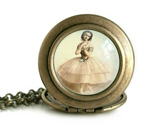 Ballerina Picture Locket Pendant