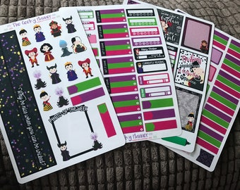 4 pages Villains Planner Sticker Set great for the erin condren life planner tm and vertical planners habit tracker budget washi