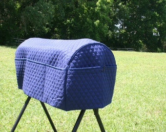 Saddle Rack Cover, Monogrammed with Initials.