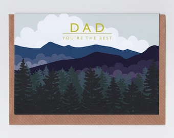 Dad - Mountains | Greetings Card