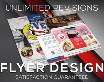 Flyer, Flyers, Flyer Design Service, Business Flyer, Photography Flyer, Custom Flyer, Custom Design, Event Flyer - SINGLE or DOUBLE SIDED