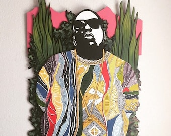Biggie Three layer Woodcut