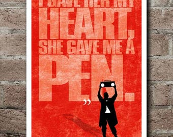 SAY ANYTHING: PEN Quote Poster