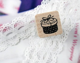 Gift Box Rubber Stamp