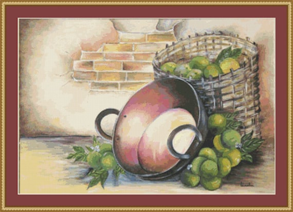 Apples Cross Stitch Pattern /Digital PDF Files /Instant downloadable