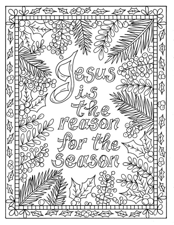 free bible christmas coloring pages | 5 Christian Coloring Pages for Christmas Color Book Digital