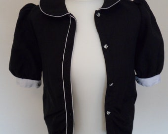 Black and white super cute jacket