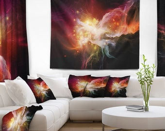 Designart Elegance of Nebulae Abstract Wall Tapestry, Wall Art Fit for Wall Hanging, Dorm, Home Decor