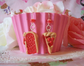 Earrings Cherry Pie Slices