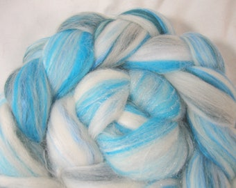 Arctic - Blended Top - 4 oz/113 grams - merino - alpaca - silk - firestar - bamboo