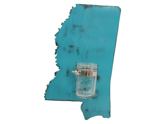 Items Similar To Mississippi State With Mason Jar Vase