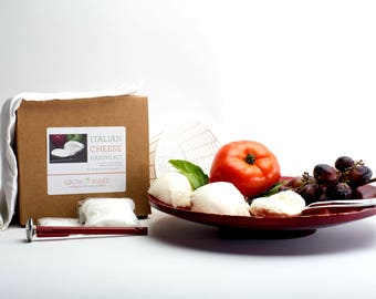 DIY Italian Cheese Making Kit - Learn to make home made cheeses
