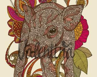Paisley Piggy - print 8x10