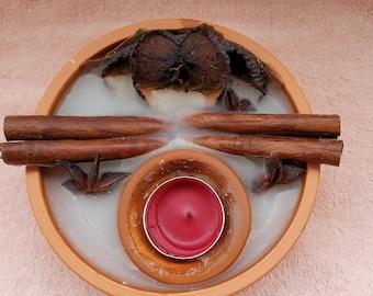 Apple & Cinnamon Sticks Tea Light / Candle Holder