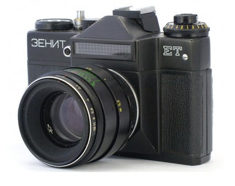 Zenit-ET Russian Vintage camera + Helios 44-2 58mm F2 Lens IN BOX