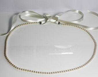 Pearl belt, Wedding belt, pearl belt, pearl bridal belt, thin bridal belt, wedding belt,  necklace belt, pearl wedding sash, wedding dress