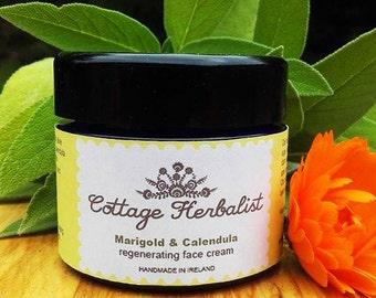 All natural, hand made Marigold & Calendula face cream 50ml