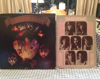 Three Dog Night lot of a record and program