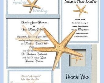 Starfish  Invitation Package Editable Download