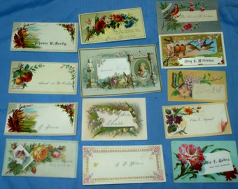 13 Vintage Victorian Business Calling Cards, CC6