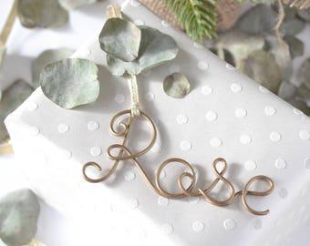 Gift Tags, Name Gift Tags, Birthday Name Tag, Birthday Gift Tags, Personalized Tags, Stocking Tags, Copper Gift Tag, Gold tags