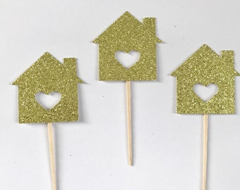 Little House Cupcake Toppers - set of 12