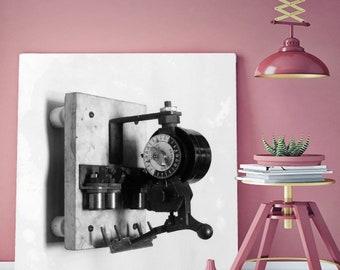 vintage electrical meter print electricity meter electric meter box electric sub meter kilowatt meter wall art  watt hour meter electricity