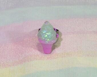 Fairy Kei Ring, Ice Cream Ring, Decora Ring, Pastel Goth Ring, Pop Kei Ring, Sweet Lolita Ring, Dreamy Ice Cream Ring